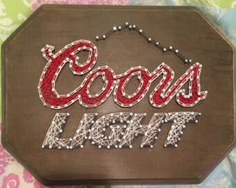 Coors Light String Art