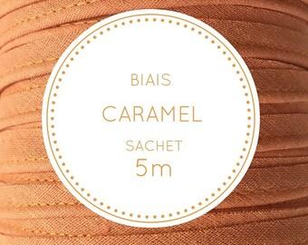 Sachet 5 m bias - Caramel