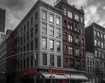 New York City Photography, NYC Print, Black and White Photography, The Odeon