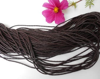 Brown leather cord - sold by the yard