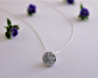 I love you to the moon and back sterling silver necklace