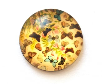 Butterfly (25 mm) glass cabochon