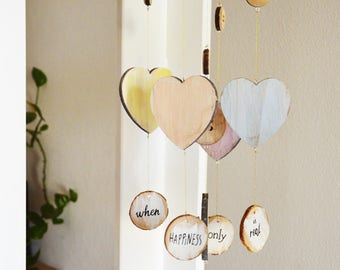 """Wind chime """"happines is real only when shared"""""""