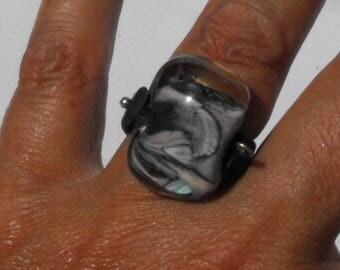 ring spun BAG.0672 Lampwork Glass Bead