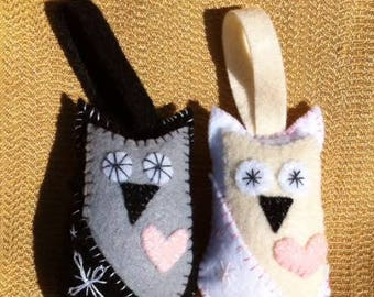 Bride and Groom plush ornament