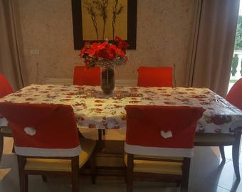 Set of 2 covers for chairs Christmas decoration