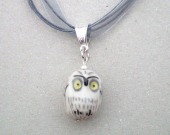 Adorable OWL pendant light porcelain - 20 mm approx