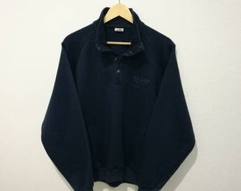 RARE!! Vintage Ellesse sweatshirt with Button and Pocket small logo pullover