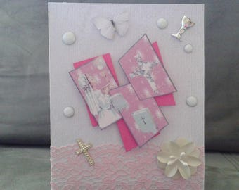 communion girl congratulations card