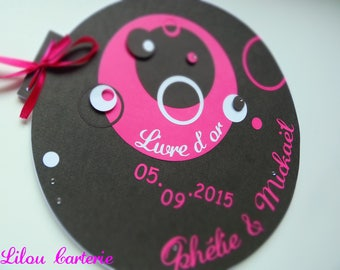 Bubbles theme Wedding guest book