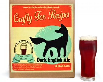 Crafty Fox 5 Gallon Beer Making Recipe Kit - Dark English Ale