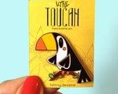 Cute Enamel Pin Toucan