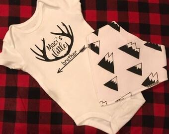 Baby Onesie and bib,newborn set,new baby gift,onesie set,baby outfit,baby boy,baby girl,gift set,baby clothes,custom shirt,newborn outfit
