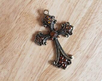 Pendant 7 cm vintage large cross