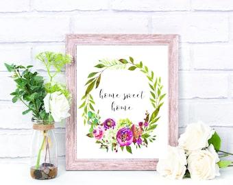 Home Sweet Home Printable Home Decor