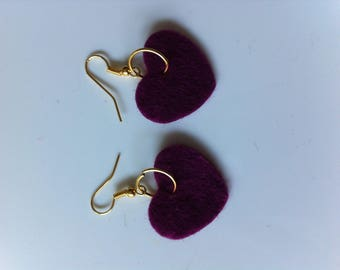 Pierced earrings by Purple Hearts BAGART