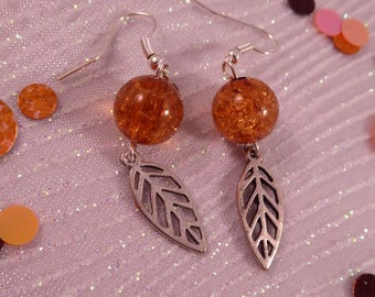 "Earrings leaf""creat ' Yon - simple and beautiful."