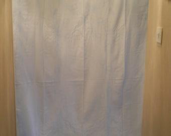 large table cloth + 12 napkins    blue cotton damask