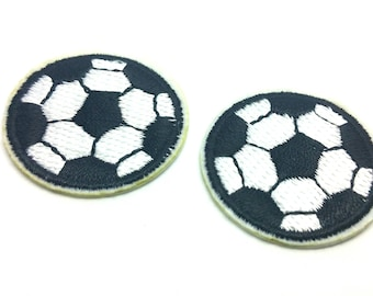 embroidered patch - soccer ball Sport - sewing Knitting Crochet 1 x
