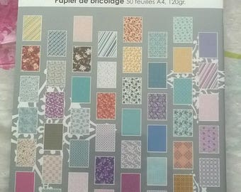 SET OF 50 SHEETS FOR SCRAPBOOKING