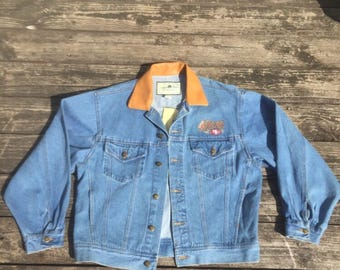 Vintage 90's NFL San Francisco 49ers Denim Jean Jacket Medium