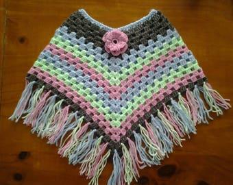 baby 3 months crochet poncho