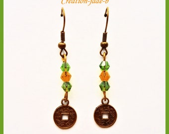 Pending Chinese symbol - fancy earrings