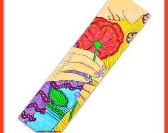 Pimp-page coloring - 19 x 5 cm - woman poppy