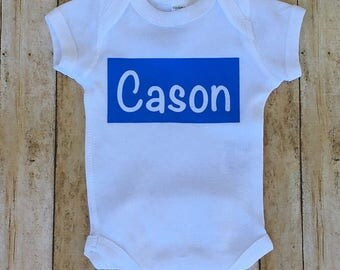 Personalized Baby Boy One Piece, Coming Home, Newborn, Welcome Baby Boy, Baby Shower Gift