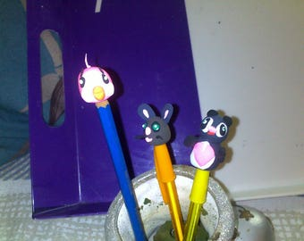 Get back to school for your pens and pencils with various characters