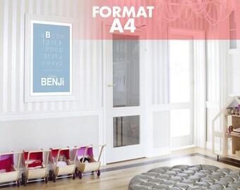 "Name ""My alphabet"" A4 size poster: 21 x 29.7 cm"