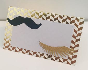 Staches or Lashes Food Tag
