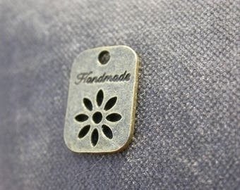 set of 6 medals handmade filigree flower pendants