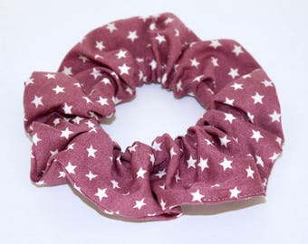 Cotton purple pattern hair tie white stars for the headdress