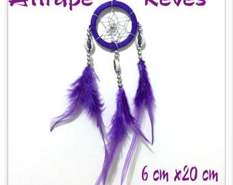 Dream catcher Dream Catcher purple feathers, pearls and shells