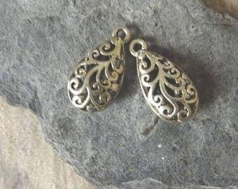 2 pretty drop earring, pendant... Antique sargent connector, 24 * 12 mm