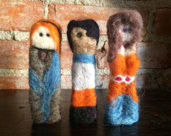 Set of 3 Needle Felted Story Dolls
