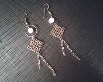 pretty dangle earrings print ideal holiday