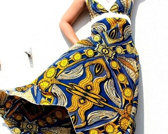 Ethnic African empire waist Maxi-dress