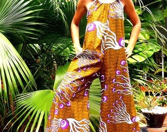 Wide pants ethnic African combination - to make custom fabric choice