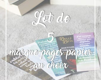 Set of 5 bookmark - Choose your own paper bookmarks