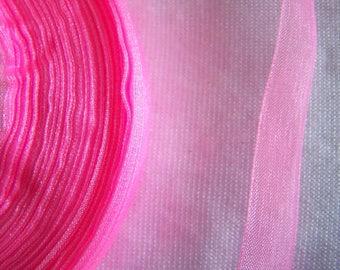 Pink organza Ribbon, (O - 005)