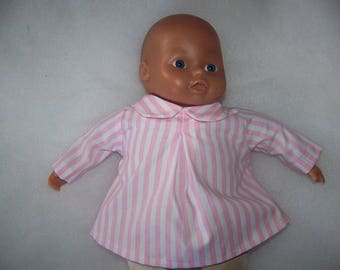 Pleat to 36 cm doll blouse