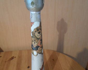 50 cm Teddy bear themed candle holder