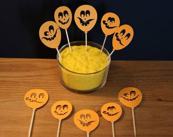 Set of 10 Toppers - Halloween Theme - shaped balloon cut