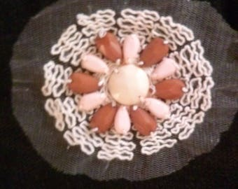 Pretty beige embroidered bib