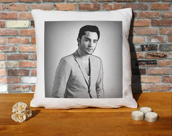 Ed Westwick Pillow Cushion - 16x16in - White