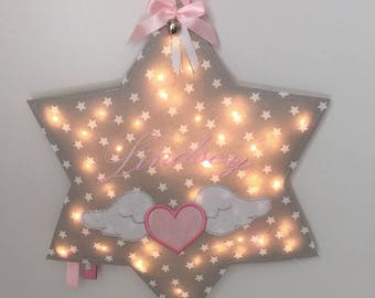 led star or cloud personalized with name night light