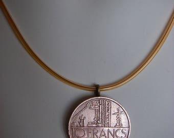 "Necklace genuine coin 10 francs ""Mathieu"""