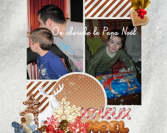"""Christmas card """"we're looking for Santa Claus"""" customized"""